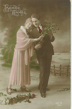 Antique French postcard.