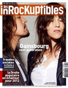 Charlotte en couverture des Inrocks aujourd'hui ! Gainsbourg, Next Generation