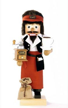 For the coffee lovers, holiday decor ;)  Nutcracker Coffee Barista