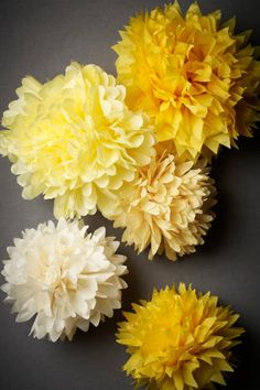 tissue paper flowers i must learn how to do these