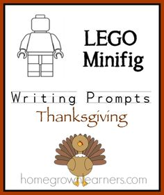 LEGO Minifig Thanksgiving Writing Prompts free download!
