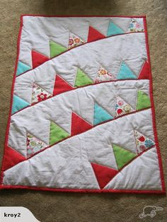 Cot Quilt - Bunting design | Trade Me