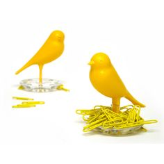 Yellow Desk Supplies | Sparrow Paperclip Holder Yellow workspace, yellow, desk accessories
