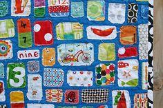 I-spy quilt. I love this idea!