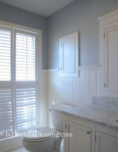 Gorgeous bathroom remodel blog post.