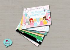 Fun idea for young kids headed to Disney. Princess Autograph book Disneyland autograph book  by lovebabble, $15.00