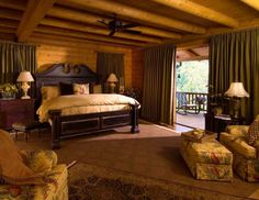 log home- master bedroom