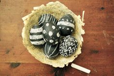Chalkboard Easter eggs - 15 Easter Crafts, Activities, and Treats for Kids I Easter Ideas for Kids - ParentMap