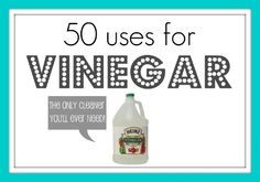 Know your uses for vinegar and natural cleaning agents!!! So much safer & less expensive while very effective.