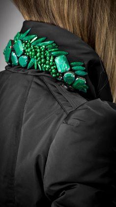 jeweled under-collar, burberry prorsum AW12