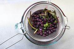 Blueberry Basil Infused Vodka, a recipe on Food52