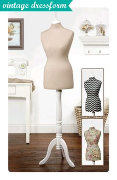 Love this new dressform with a #vintage look! Display jewelry, clothes & drape fabric for a beautiful home decor accessory!