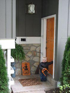 Love orange door
