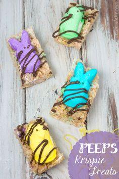 Easy #Peeps #Easter treats - Peeps Krispie treats