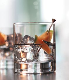 A Grey Goose Melon on the Rocks. The pure essence of ripe Cavaillon melons in GREY GOOSE Le Melon makes for an extraordinary toast.