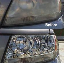 Clean your car headlights