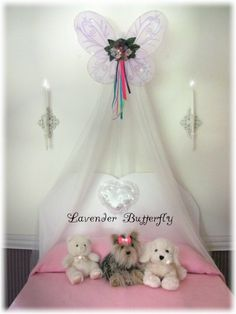 Butterfly Photo Crib Nursery Canopy Bed Fairy by SoZoeyBoutique, $36.99