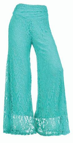 Open Range: Lucky And Blessed — L's Jade Lace Pants