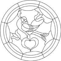 Single distelfink hex sign pattern