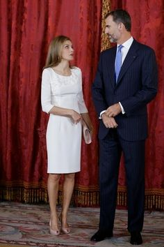 Queens & Princesses - King Felipe and Queen Letizia offered an official lunch in honor of the President of Panama and his wife at the Royal Palace in Madrid.