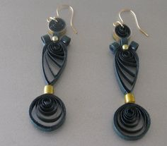 Paper Quilled Earrings/Unusual by JuliesQuilling on Etsy, $6.00