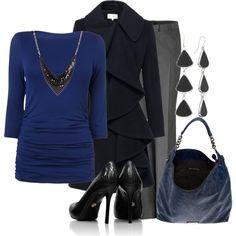 I'll wear blue, created by lagu on Polyvore