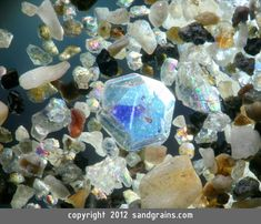 Sand Grains Gallery. (A TINY SAPPHIRE) Sand from Japan