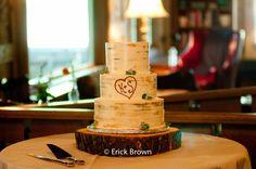Buttercream birch tree effect cake.