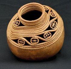 Pine Needle Gourd Basket by Lynn Horine