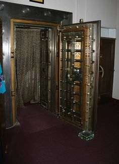 Old bank vault repurposed as a change room