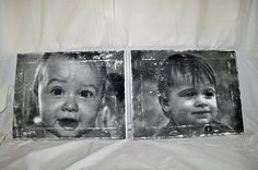 Picture transfer onto canvas