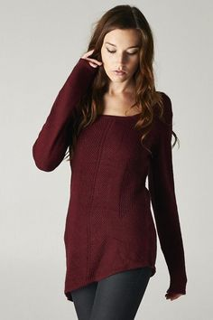 Burgundy sweater for fall!