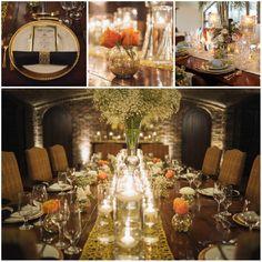 Tischdekoration von Great Gatsby Thema 20er Jahre Vintage Hochzeit im Winter  Inspiration für die 20er Jahre Vintage Hochzeit