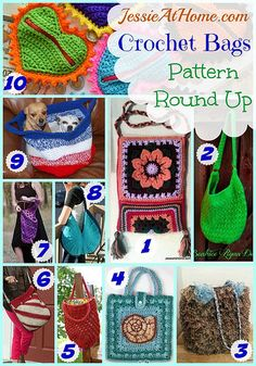 Crochet Bag Pattern Round Up from Jessie At Home