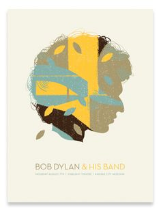 Tad Carepenter's poster for Dylan was a mini tribute not only to Dylan but the iconic poster that Milton Glaser created for the icon decades before. 18x24 4 colors on natural stock.