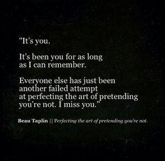 Beau Taplin   Perfecting the art of pretending you're not.