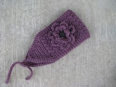 Finally found a crochet headband ear warmer pattern I really like.