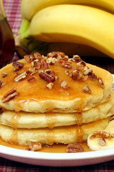Chunky Monkey Pancakes Recipe with Bananas, Chocolate Chips, and Pecans