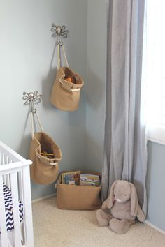 Hanging toy baskets