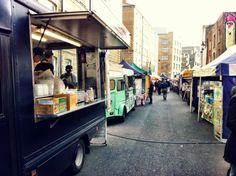 Whitecross street market... go find the blueberry pasteis de nata. Insane!