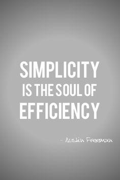 #simplicity