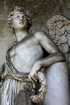 Angel, Rome, Piazza del Popolo~ eavenly being: a divine being who acts as a messenger of God in some religions, some of whom became fallen defectors of myth.  Often depicted as winged figures, this term is often used as a euphemism to describe a kind person or someone who is beautiful.