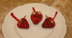 strawberri treat, holiday recip, healthi strawberri, strawberries, holiday fun, valentin strawberri, holiday idea, valentin mice, strawberri mice