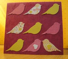 Uses Stampin' Up! bird punch - made by me!