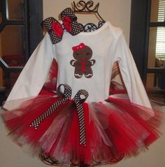 Gingerbread Man or Girl. Add a tutu to the girl!