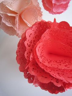 DIY Doily Pom Poms- so cute!