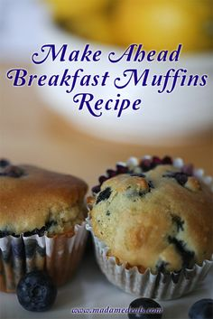 Make Ahead Breakfast Basic Muffin Recipe #recipes #muffins #inspireothers #breakfast