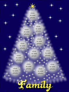 Christmas tree collage.