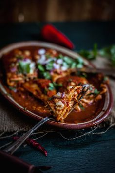 Chicken Enchiladas With Three Peppers & A Homemade Enchilada Sauce