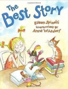 The Best Story - one of the first books read each year in Writer's Workshop.  It's great for teaching where writer's get their ideas.  In the end, the main character learns that the best story comes from your heart.